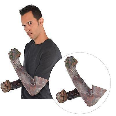 Adult Zombie SFX Sleeves Halloween Accessory Dead Horror Walking Creepy Gore
