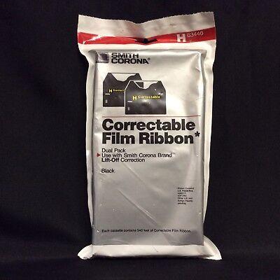 Smith Corona H63446 Black Correctable Ribbon 2 Pack