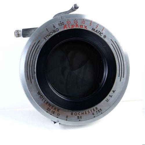 ^ Wollensak Alphax Synchro Shutter for Medium Format Camera w/ Retaining Ring