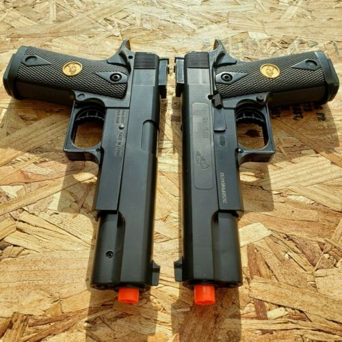 2 PACK DOUBLE EAGLE SPRING AIRSOFT PISTOL HAND GUN 6mm BB BBs AMMO