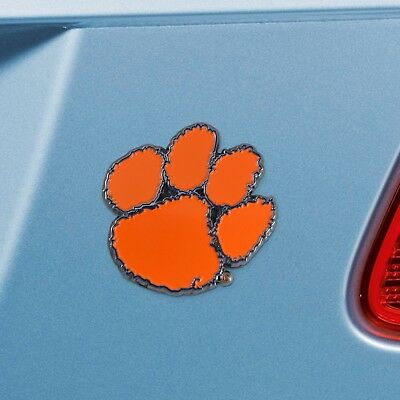 Clemson Tigers Heavy Duty Metal 3-D Color Auto Emblem  - Clemson Tigers Colors