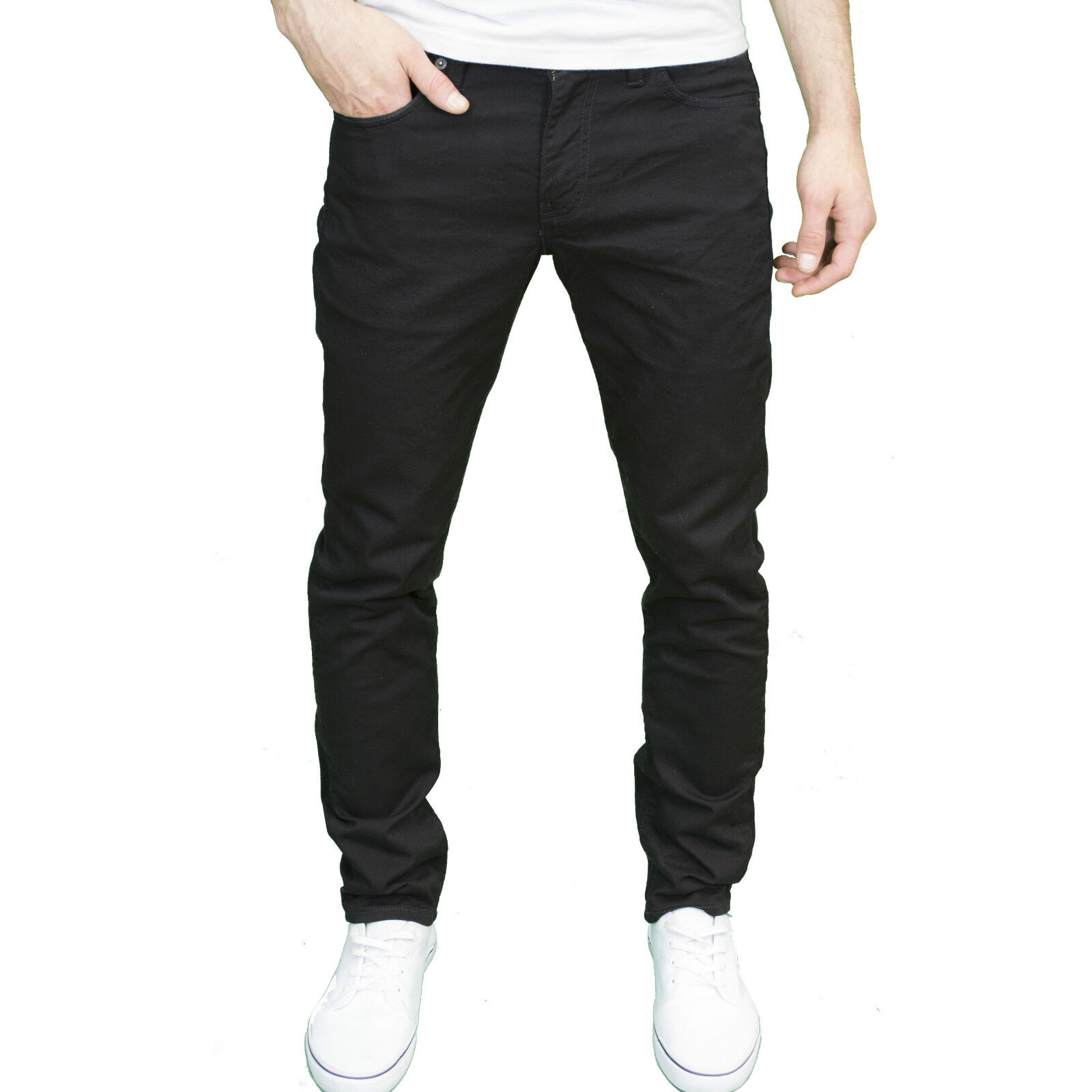 84fbedb83aa Details about Levi s 511 Mens Black Slim Fit Straight Leg Stretch Jeans