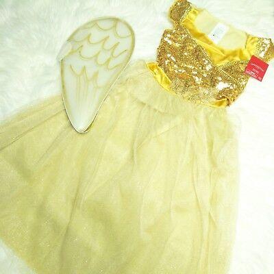 New Wondershop at Target Kids' Angel Costume Girls Yellow Dress & Wings, Medium](Costumes For Girls At Target)