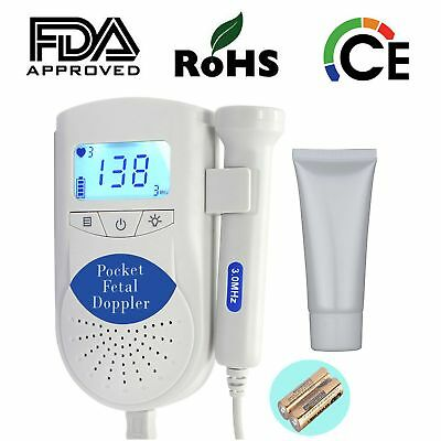 LCD Sonoline B Baby Fetal Doppler Heart Monitor UltrasoundHeartbeat Detector Gel