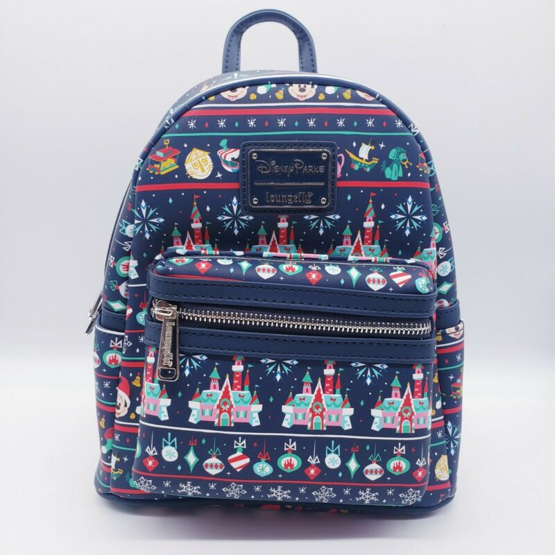 Disney Parks 2020 Christmas Holiday Attractions Loungefly Mini Backpack