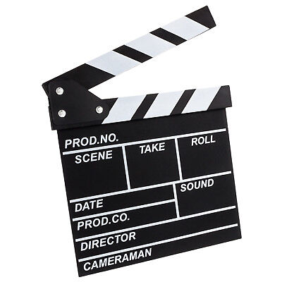 Filmklappe Regieklappe Regisseur TV Board Tafel Klappe Filmrequisite 20x20cm