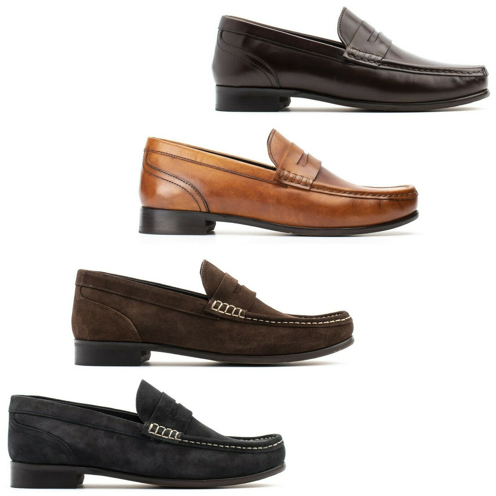 Base London Mens Loafers Cassio Suede