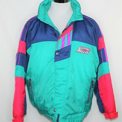 0eccf031399 Vintage Extreme Limit XL 80s 90s Color Block Retro Ski Jacket Coat Winter  Sports