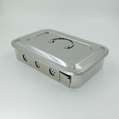 Stainless Steel Instruments Tray Case 9 With Hole Sterilization Tray Surgical