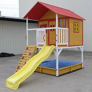 Large Kids Outdoor Elevated Wooden Cubby House with Slide Sandpit East Perth Perth City Area Preview