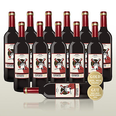WOW Angebot des Tages 12 Fl. Cepunto Oro,100% Tempranillo - Rotwein aus Spanien!