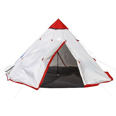 Tahoe Gear Blackhorn 4 Outdoor Camping 10 Foot 4 Person Sleeper Cone Style Tent