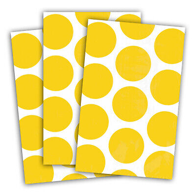 10 Polka Dot Spots YELLOW Treat Loot Party Sweet Candy Paper Bags
