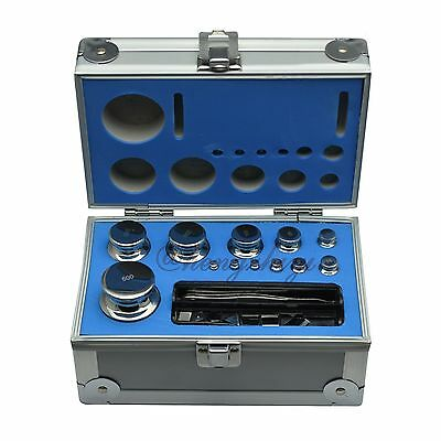 F1 Grade 1mg-500g Stainless Steel Scale Calibration Weight Kit Set w Certificate