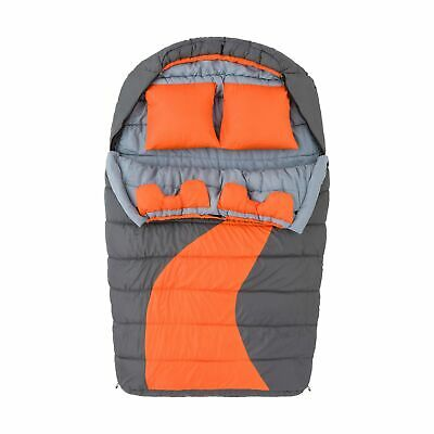 Ozark Trail 20F degree Cold Weather Double Mummy Sleeping Bag Orange -