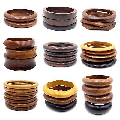 - Wholesale Fashion Jewelry lot 10 PCS Wooden Bracelets Bangles