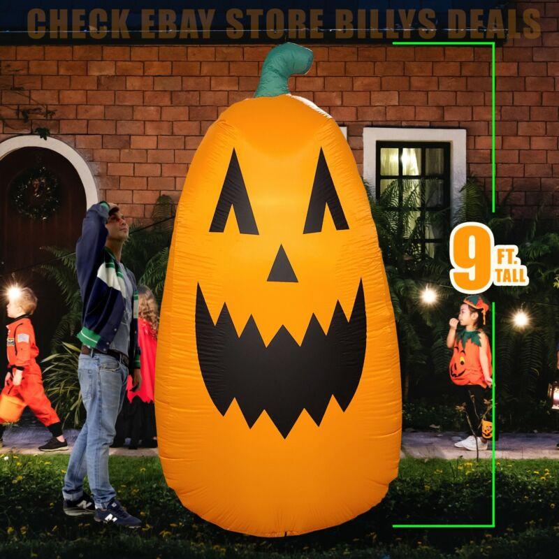 Inflatable Pumpkin 9 Ft Halloween Decoration Yard Indoor Outdoor Lighting Decor