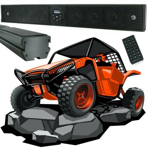 "Gravity 600W 35"" Sound Bar 8 Speaker Bluetooth Marine Polaris/ATV/UTV/RZR System"