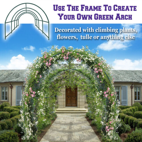 Multi-use Steel Garden Arch Rose Arbor Climbing Plant Outdoor Greenhouse Frame