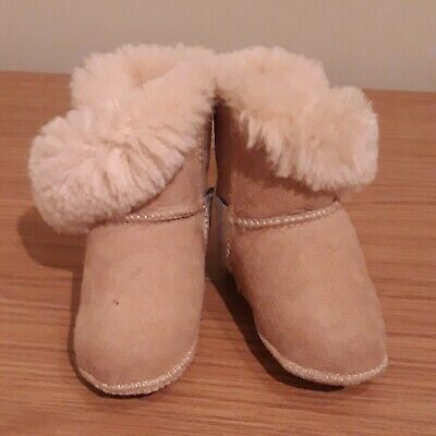Jojo Maman Bebe Sheepskin Pram Boots 3-6 Months, Baby Boots VGC for sale  Shipping to South Africa