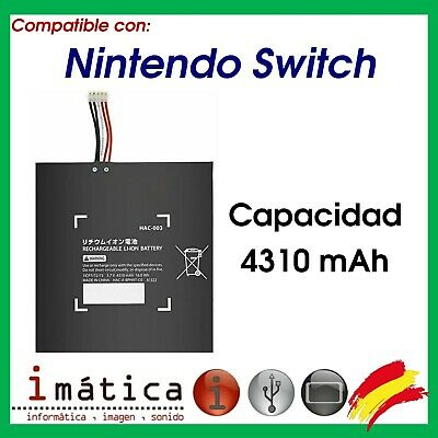 BATERIA PARA CONSOLA NINTENDO SWITCH 4310 mAh HAC-003 DE REPUESTO INTERNA 16.0Wh