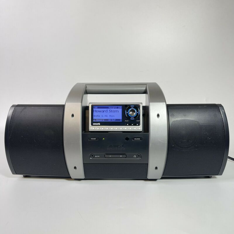 SIRIUS XM Radio Boombox SUBX1 W/ SP4 Receiver & Antenna ~ Lifetime Subscription