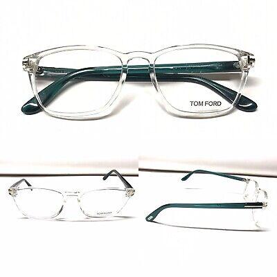 TOM FORD TF 5355 026 crystal clear see through Green emerald 54mm 18mm 145mm (See Through Eyeglass Frames)