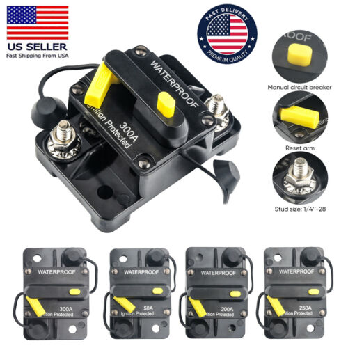 30-300AMP DC Circuit Breaker Car Auto Marine Stereo Audio Fuse 12V 60A Reset