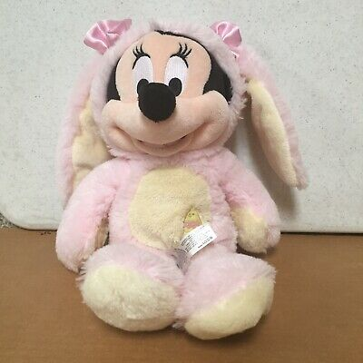"""Authentic Disney Store Minnie Mouse 14"""" Pink Easter Bunny Costume Plush EUC - Authentic Minnie Mouse Costume"""