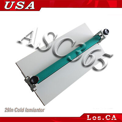 29.5 Manual Cold Roll Laminator Mount Laminating Machine 750mm Us Free Shipping