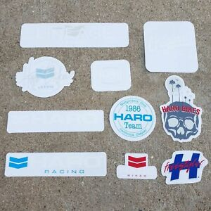 HARO BMX ASSORTED STICKERS DECAL BMX BICYCLE STICKER DECALS PACK KIT