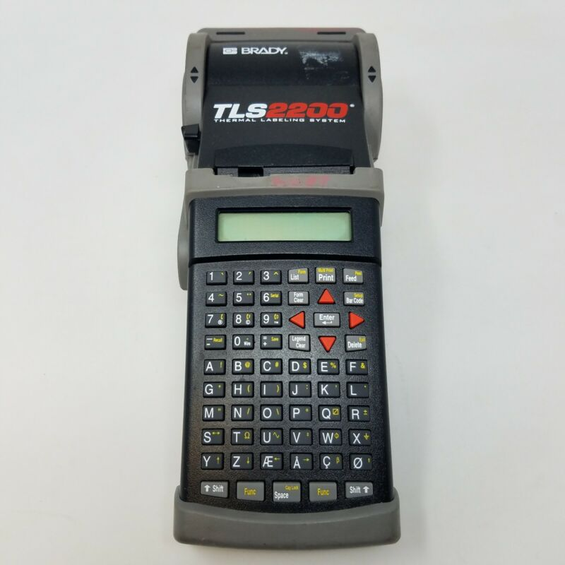 Brady TLS2200 Thermal Portable Labeling System Label Maker - Untested