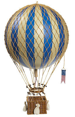 - Blue & White Striped Hot Air Balloon Model 13