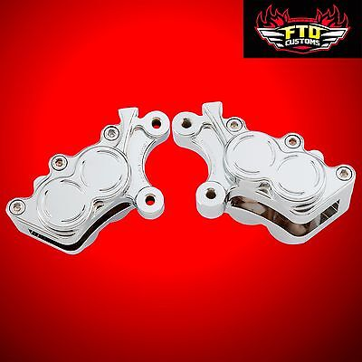 New Arlen Ness Chrome Billet Front Brake Caliper Housing Set 2008-2016 Touring