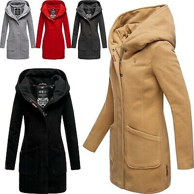 Navahoo Damen Winter Jacke Mantel Business Trenchcoat Wintermantel Parka MAIKOO Mantel Wintermantel