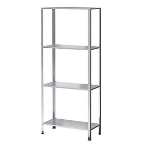 New 4 Tier Metal Shelving Unit Display Book  Shelf  Furniture 140 x 60 x 27cm