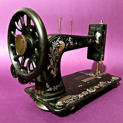 Used, 1906 OTTOMAN CARNATION DECORATED ANTIQUE SINGER 48K SEWING MACHINE NOT COMPLETE  for sale  Shipping to Nigeria