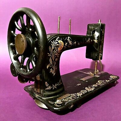 1906 OTTOMAN CARNATION DECORATED ANTIQUE SINGER 48K SEWING MACHINE NOT COMPLETE  for sale  Shipping to Nigeria