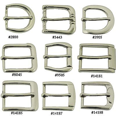 """1"""" (25 mm) Prong Pin Belt Buckle Straps Nickle Free Silver Metal Leather Crafts"""