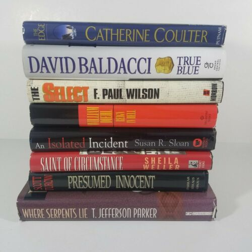 Mixed LOT of 8 Hardcover Books Crime Suspense Thriller Mystery