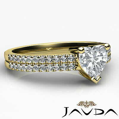 Heart Cut Diamond Engagement Double Prong Ring Certified by GIA F Color VS1 1Ct 9