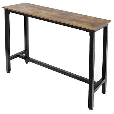 Industrial Rectangular Bar Kitchen Pub Dining Coffee High Table Indoor Decor