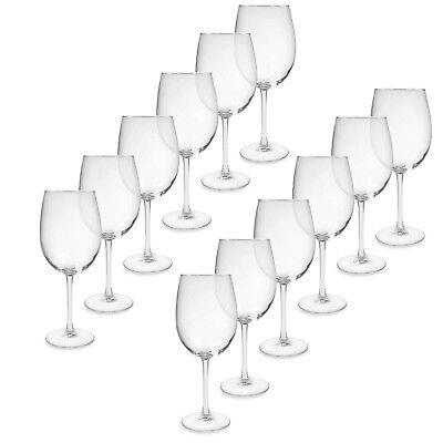 Tulip Shaped Wine Glasses - Set of 12 - 18.5 Oz - Glass - NEW - Free Shipping