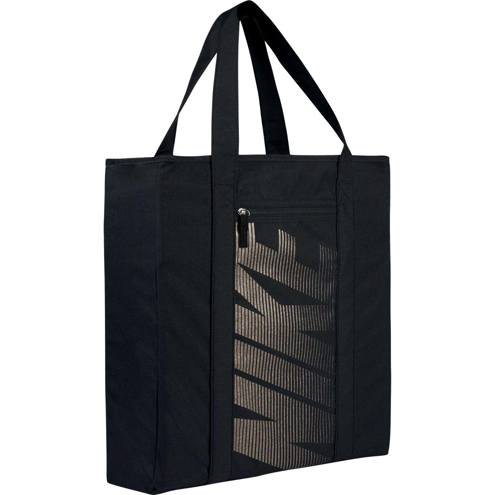 Nike Women's Gym Training Tote Bag One Size Black Glitter Gy