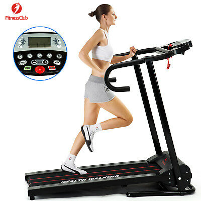 LED Electric Motorized Treadmill Portable Folding Running Gym Fitness Machine