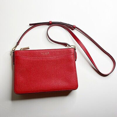 Kate Spade New York Red Leather Crossbody Handbag