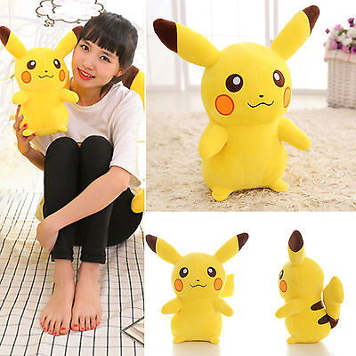 New Xmas Gift Japanese Anime POKEMON Pikachu Soft Plush Toy Kids Teddy Doll 35cm