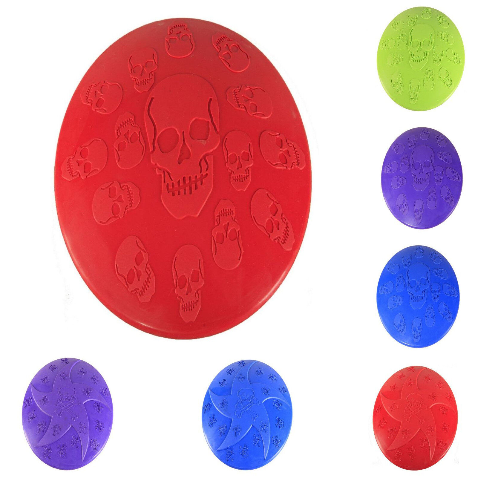 Pet Toy Soft Rubber Frisbee Fetch Throwing Training Colorful
