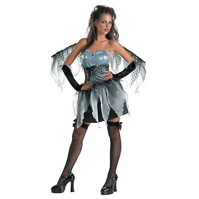 Blue Fairy Costumes (Disguise Costumes Women's Frost Fairy Blue Pixie Costume with Wings Size 12 -)