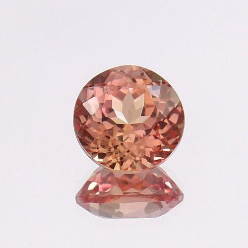 AAA 4.85 Ct Natural Flawless Brazilian Peach Morganite Round Cut Loose Gemstone